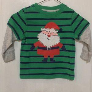 Boys Santa Shirt (Size 2T)